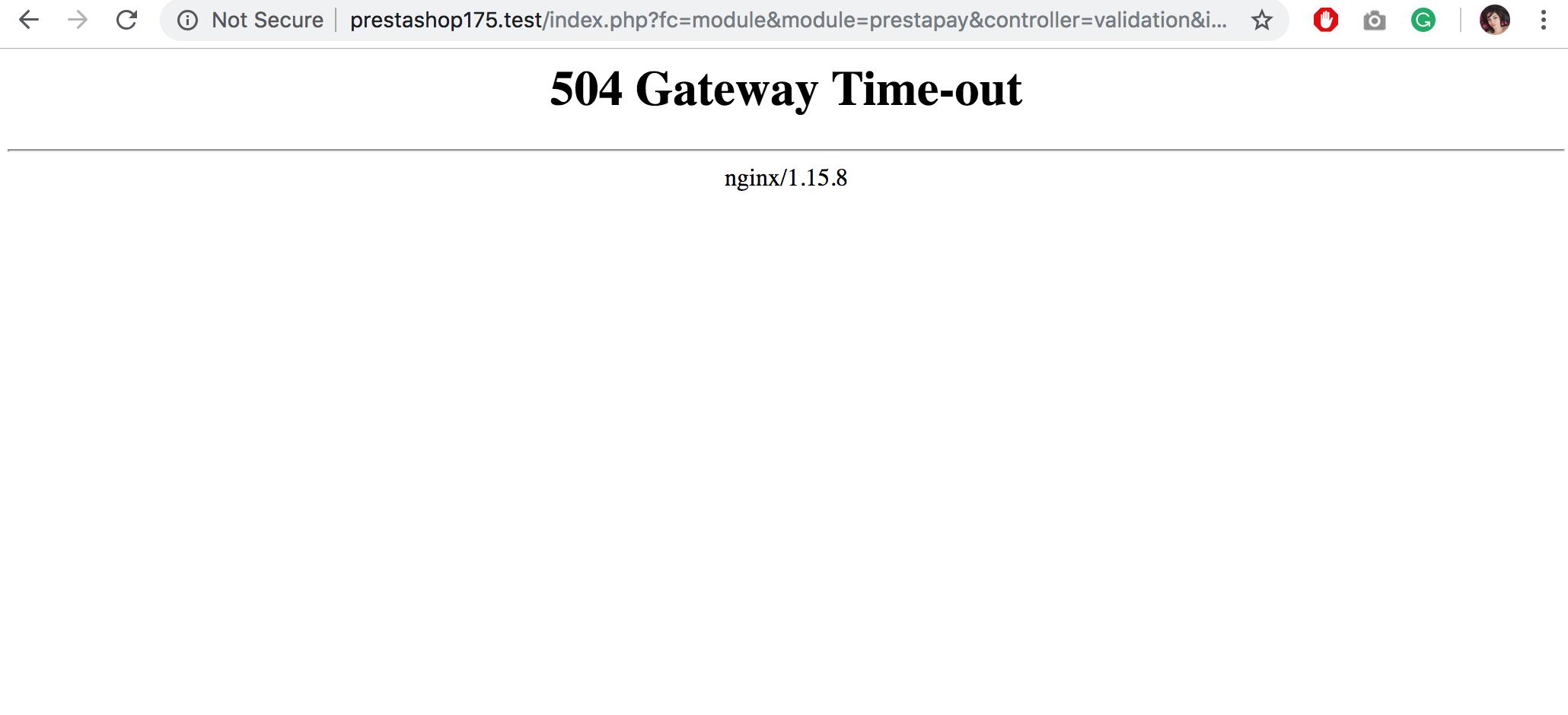 504 Gateway Timeout Error Nginx
